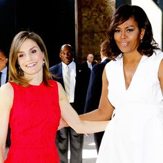 "Queen Letizia and Michelle Obama arrive at the ""Let Girls Learn"" event held in Matadero Madrid. Madrid, 30.06.2016."