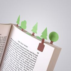 Tiny Paper Bookmarks Let You Grow Charming Miniature Worlds In Your Books | BoredPanda