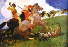 The Hunting of the Amazons - Maximilian Liebenwein