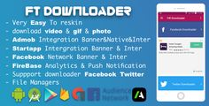 Facebook Twitter Downloader With Admob , Facebook Network ADS and Startapp Sdk 2018