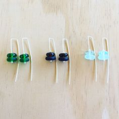 New recycled glass earrings – Julie Frahm – Glass Jewellery