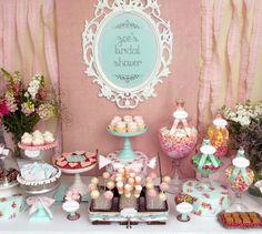 "Photo 24 of 54: Vintage Shabby Chic / Bridal/Wedding Shower ""Zoe's Bridal Shower""   Catch My Party"