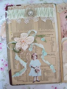 You may remember that I mentioned that I am participating in a round robin journal that Lori is hosting? The theme is paper dolls. I already posted a few of these pages but wanted to show you all of them...