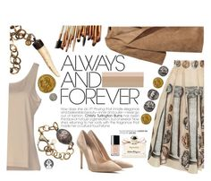 """""""Always and forever"""" by pau-rosa ❤ liked on Polyvore featuring Dolce&Gabbana, H&M, D.Exterior, Gianvito Rossi, Chanel, Salvatore Ferragamo, women's clothing, women, female and woman"""