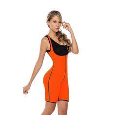 de047acf1d Hot Shapers Bodysuit Sauna Suit Waist Trainer Corsets Neoprene Body Shaper  Redu Cincher Women