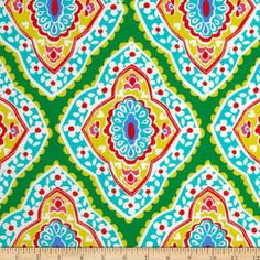 Amazon.com: Michael Miller Coco Cabana Bazaar Medallion Grass Fabric: Arts, Crafts & Sewing