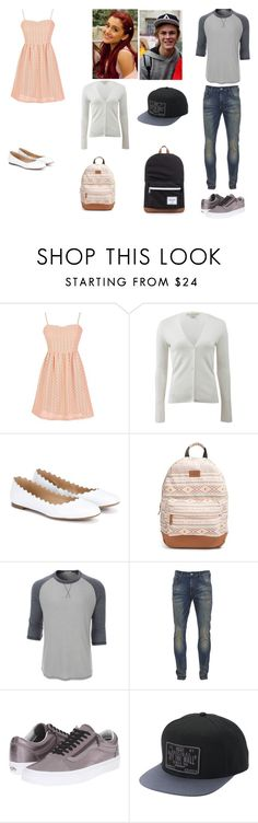 """""""Caterina Valentine and Casper Greene"""" by milkshake22-1 ❤ liked on Polyvore featuring beauty, Michael Kors, Chloé, Rip Curl, LE3NO, Scotch & Soda, Vans and Herschel Supply Co."""