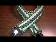How to make a paracord fancy double cobra dog collar belts rifle sling never seen before! - YouTube