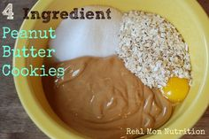 4 Ingredient Peanut Butter Cookies from Real Mom Nutrition