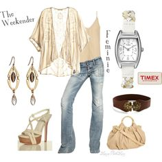 """""""Easy Spring Style With The Timex Weekender Feminine Watch"""" by laurabethlove on Polyvore"""