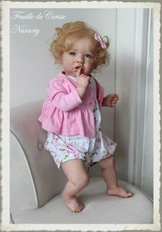 Feuille de Cerise Nursery - baby reborn toddler doll Saskia by Bonnie Brown in Jouets et jeux, Poupées, vêtements, access., Poupées d'artistes, faite-main | eBay