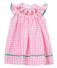 b605cf516eb9 Lil Cactus Pink Gingham Bunny Smocked Bishop Dress - Infant, Toddler & Girls