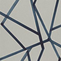 Sumi Harlequin blue wallpaper contemporary design