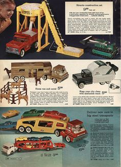 Toy Trucks in Montgomery Ward Christmas Catalog, 1968, by Wishbook, via Flickr