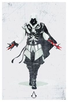 Assassins Creed Video Game Poster Print 12x18 by SPACEBARdesigns