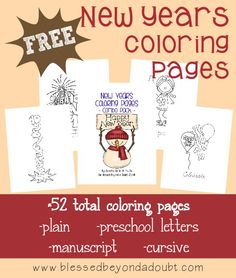 The New Year is quickly approaching! Kids will love celebrating with these fun (and educational) New Years Coloring Pages {52 total pages}!!
