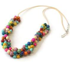 Same torsade necklace, now with vanilla color cord option