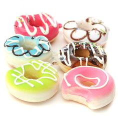 5CM Kawaii Bite me Donut Soft Cute Squishy Bread Keychain Bag Phone Charm Strap Sale - Banggood Mobile
