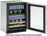 "#refrigerators 24"" Custom Panel Undercounter #Built-In #Beverage Center - Left Hinge"
