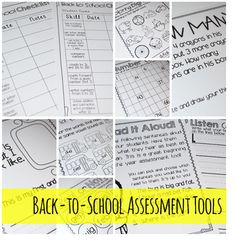 back to school assessment tools....perfect for beginning of the year when you're trying to get a feel for what your kiddos know!!!!