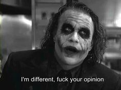 The story is about the joker from the dark knight (Heath ledger) and you ! + sexual thoughts and pleasures from the joker Der Joker, Heath Ledger Joker, Joker Quotes, Movie Quotes, Life Quotes, Joker Meme, Heath Quotes, Geek Quotes, Batman Quotes