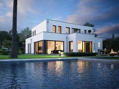 Edition Style City 2000 • Bauhaus, Cubus von Viebrockhaus • Modernes Massivhaus mit Flachdach und zweiter Küche • Jetzt bei Musterhaus.net informieren!