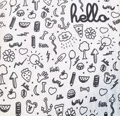 Set of various doodles, hand drawn rough simple sketches of various kinds of cocktails and soft drinks. Vector freehand illustration isolated on white background. Bullet Journal Pdf, Doodle Drawings, Doodle Art, Snapchat Stickers, Bulletins, Sketch Notes, Bullet Journal Inspiration, Coloring Pages, Kids Coloring