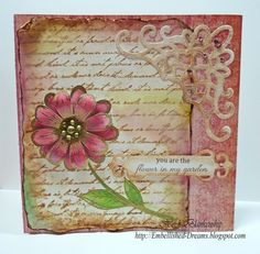 Heartfelt Creations | Pink Vintage Daisy Card