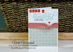 CTMH July 2015 Stamp of the Month | Working on Christmas...