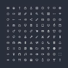 One Hundred — Icon Collection by Shiping Toohey, via Behance #Minimalist #Illustration #icon