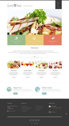European Restaurant Responsive Joomla Template  #Restaurant #European #Responsive