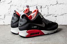 Wmns Nike Air Max 90 Sneakerboot PRM Black Base Grey Pink Blue