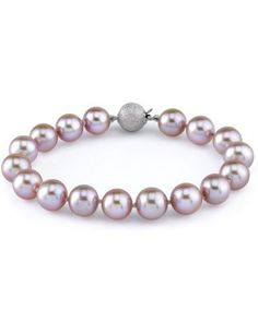 """9-10mm Lavender Freshwater Pearl Bracelet The Pearl Source. $289.00. Every purchase comes in an elegant gift box designed to showcase your beautiful pearls and protect them.. Newest addition to our pearl jewelry collection.. High Quality with """"Very High"""" luster stunning pearl bracelet."""