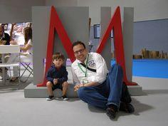 @rubolotas con su sobrino Luis, quedaron encantados con el taller
