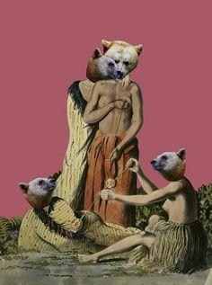 Da bears; naked.