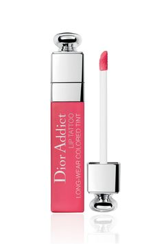 """Dior Addict Lip Tattoo, the first long wear lip tint by Dior, is about to shake up your makeup routine. With its hold,* comfortable formula and weightless """"""""no transfer"""""""" finish, the colour fuses to the lips like a tattoo just seconds after application. Christian Dior Addict, Christian Dior Makeup, Make Up Looks, Best Lip Stain, Dior Lipstick, Lipsticks, Natural Lip Colors, Natural Red, Dior Beauty"""