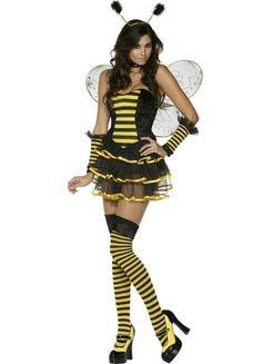 Cute Honey Yellow Mesh Halloween Bee Costume.#2014 Cute Halloween #Costumes #Fashion #Women Diy Homemade Creative,#Cheap #Sexy Halloween Costumes For Teens. pinkqueen.com