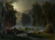 Косари. Вечерний отдых, 1887