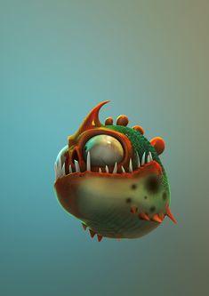 Piranha by Marcello Baldari, via Behance
