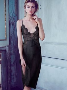 Embellished Lace & Chiffon Slip - The Victoria's Secret Designer Collection - Victoria's Secret