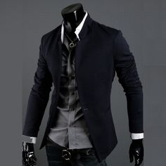 one button slim blazer