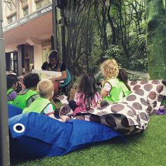 The local preschool's having a pretty special story-time today! #popupforest #ParksWeek #hungrycaterpillar  #popupwgtnsummer