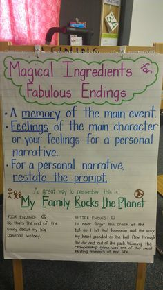 Magical Ingredients for Fabulous Endings -- Works great with personal narratives!
