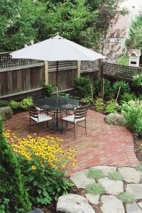Patio in Wayland, love this for my backyard!