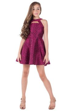 Miss Behave 'Harley' Cutout Skater Dress (Big Girls) available at #Nordstrom