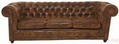 Sofa Oxford 3-Sitzer Vintage Eco