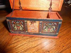 Vintage estate artisan signed Cindy Malon 94 painted chest wonderful rare item | eBay
