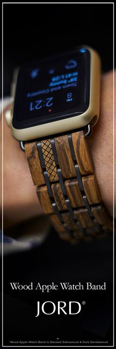Diamond Watches Collection : Pair your new - with our natural! JORD's *new release* wood band comes with a - Watches Topia - Watches: Best Lists, Trends & the Latest Styles Cool Watches, Watches For Men, Smartwatch, Apple Watch Accessories, Well Dressed Men, Apple Watch Bands, Swagg, Luxury Watches, Mens Fashion