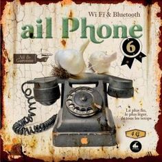 Plaque Métal Ail Phone - Class Déco