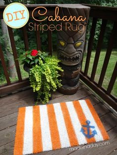 DIY Home Decor: DIY Cabana Striped Nautical Rug